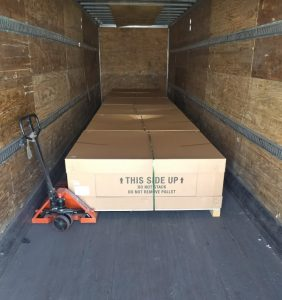 pallets in ltl truck