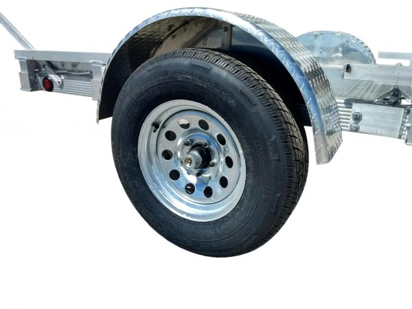 close up of the radial tire included with the trailer